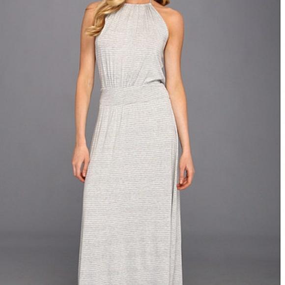 c97ae1a59af1 Anthropologie Dresses | Michael Stars Halter Maxi Dress Heather Grey ...